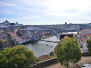 The Dom Luis I Bridge, Porto, Portugal.