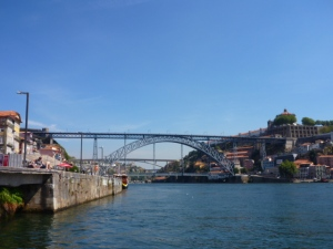 View from the Dom Luis I Bridge, Porto, Portugal.
